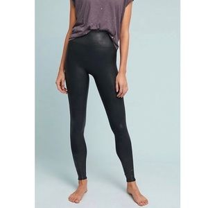 Spanx Faux Leather High Rise Black Leggings
